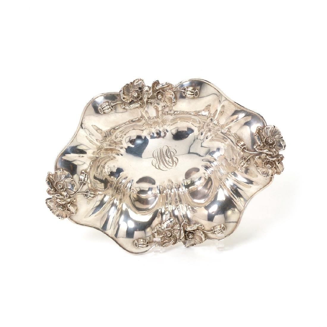 Art Nouveau Sterling Bowl with Floral Decoration - 2