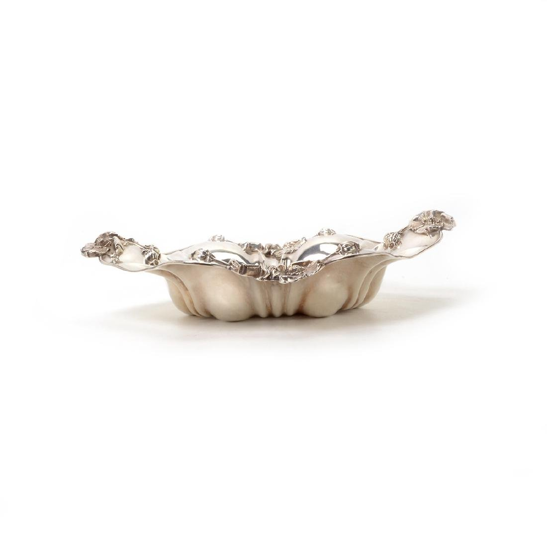 Art Nouveau Sterling Bowl with Floral Decoration - 3