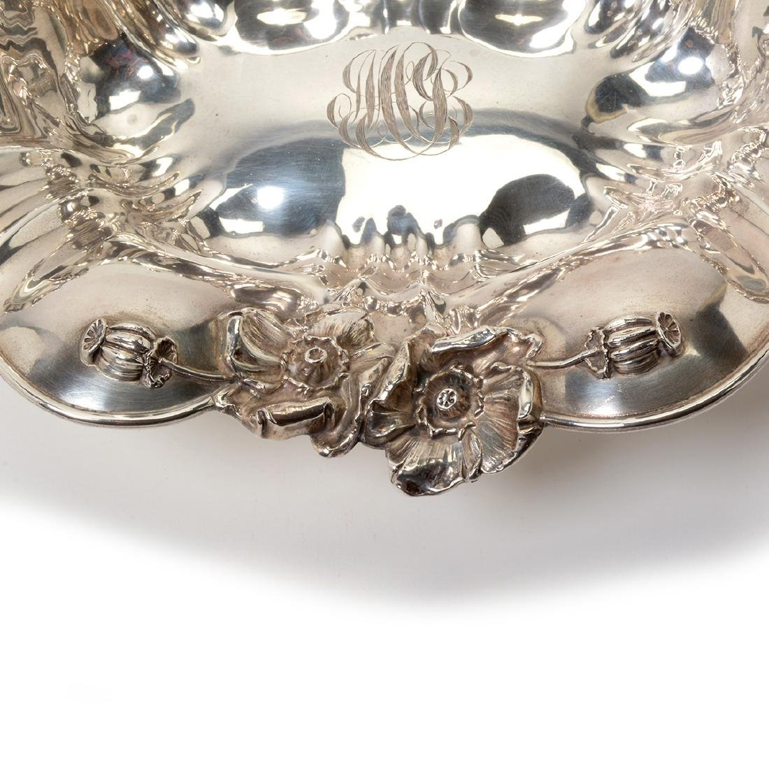 Art Nouveau Sterling Bowl with Floral Decoration - 5