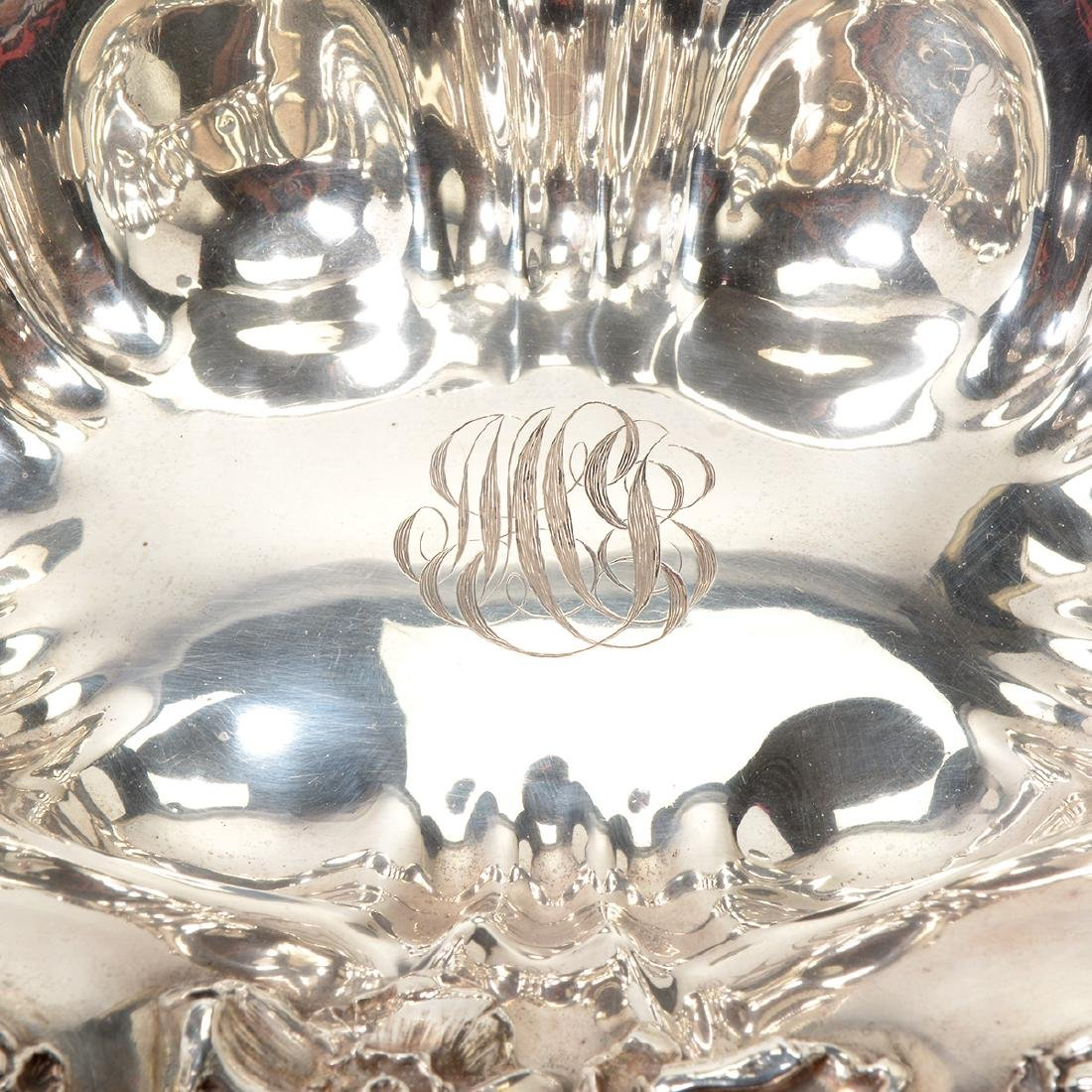 Art Nouveau Sterling Bowl with Floral Decoration - 6