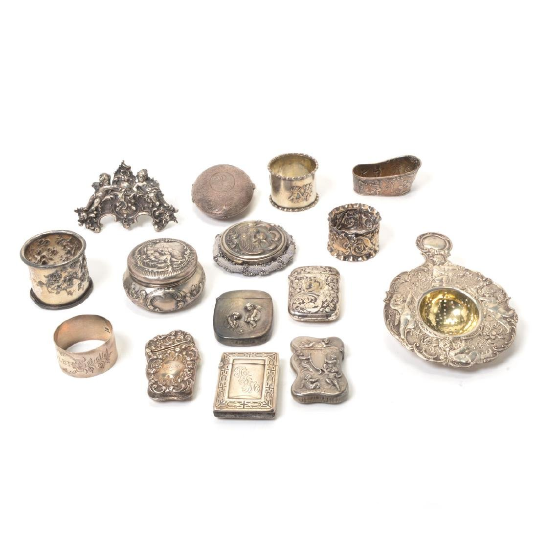 Collection of Silver Personal Articles in the Rococo
