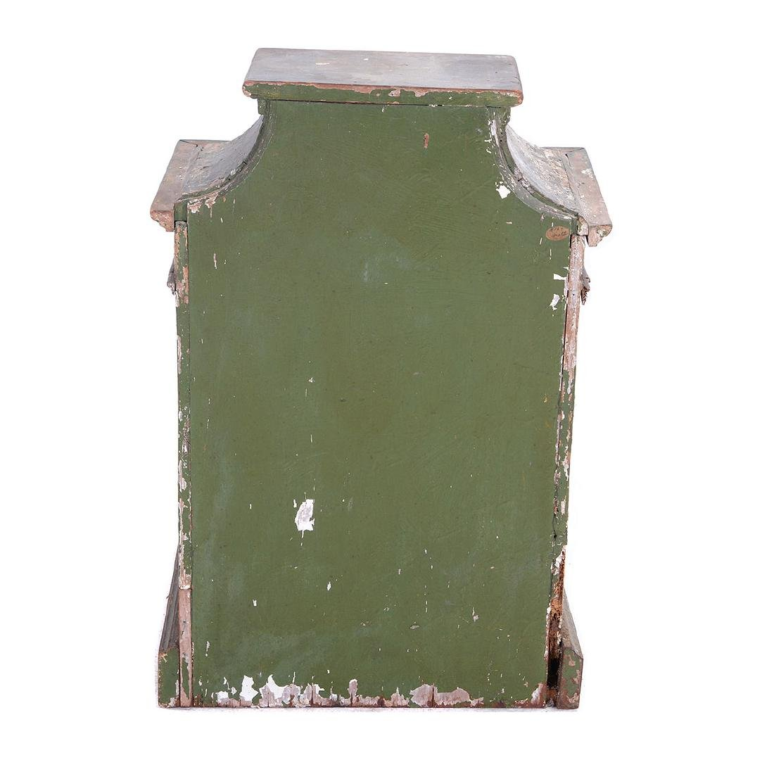 Italian Rococo Green Painted and Gilt Table Cabinet, - 4
