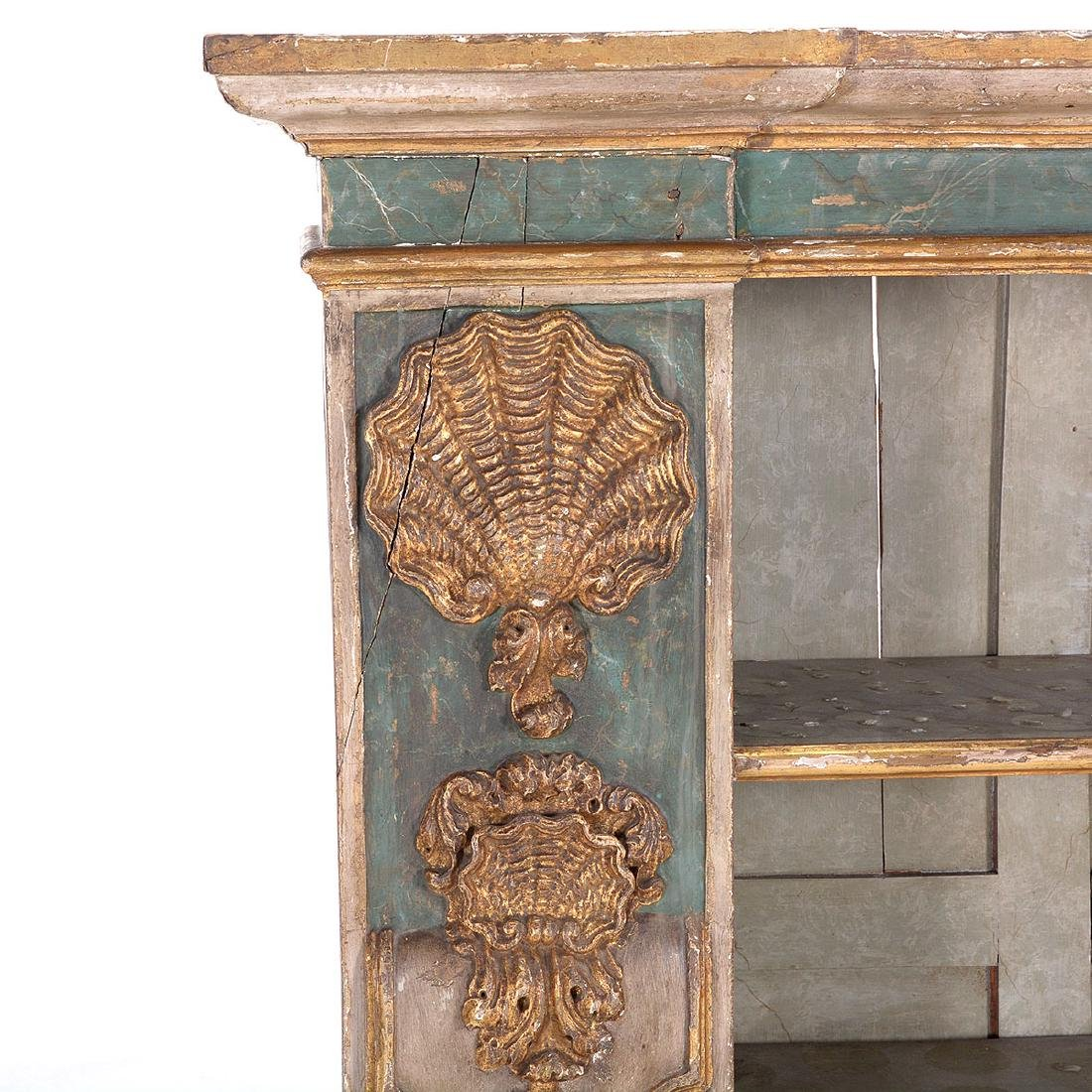 Italian Baroque Polychrome and Giltwood Side Cabinet, - 2