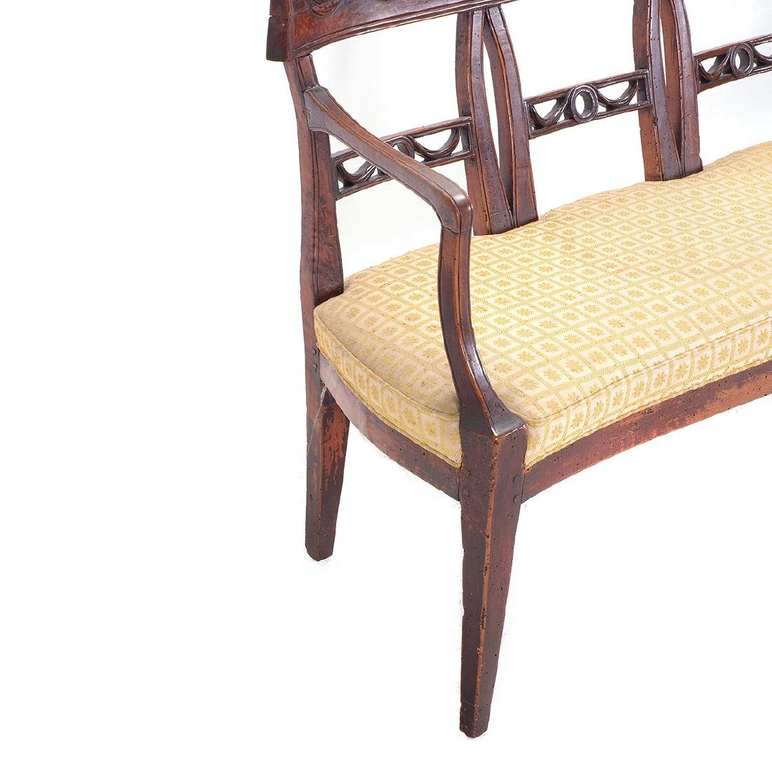 Italian Neoclassical Walnut Quadruple Chair Back - 2