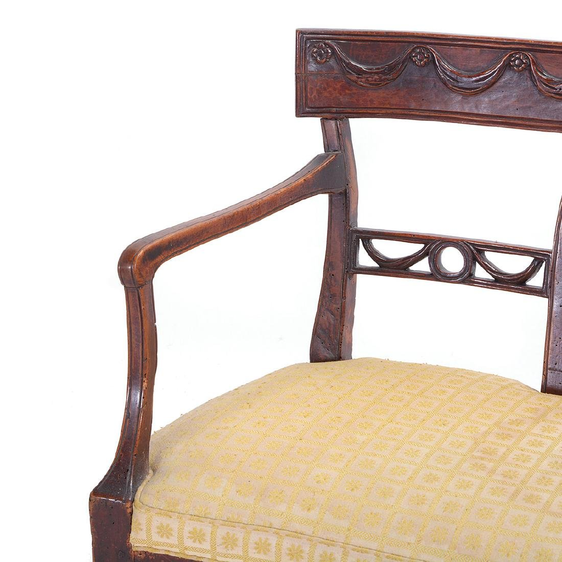 Italian Neoclassical Walnut Quadruple Chair Back - 4