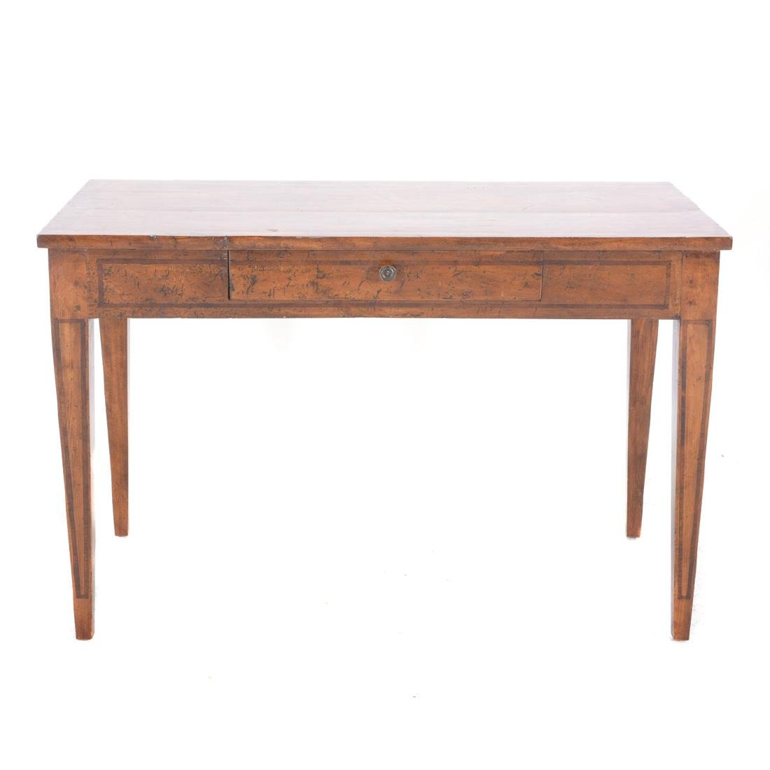 Italian Neoclassical Style Inlaid Fruitwood Center