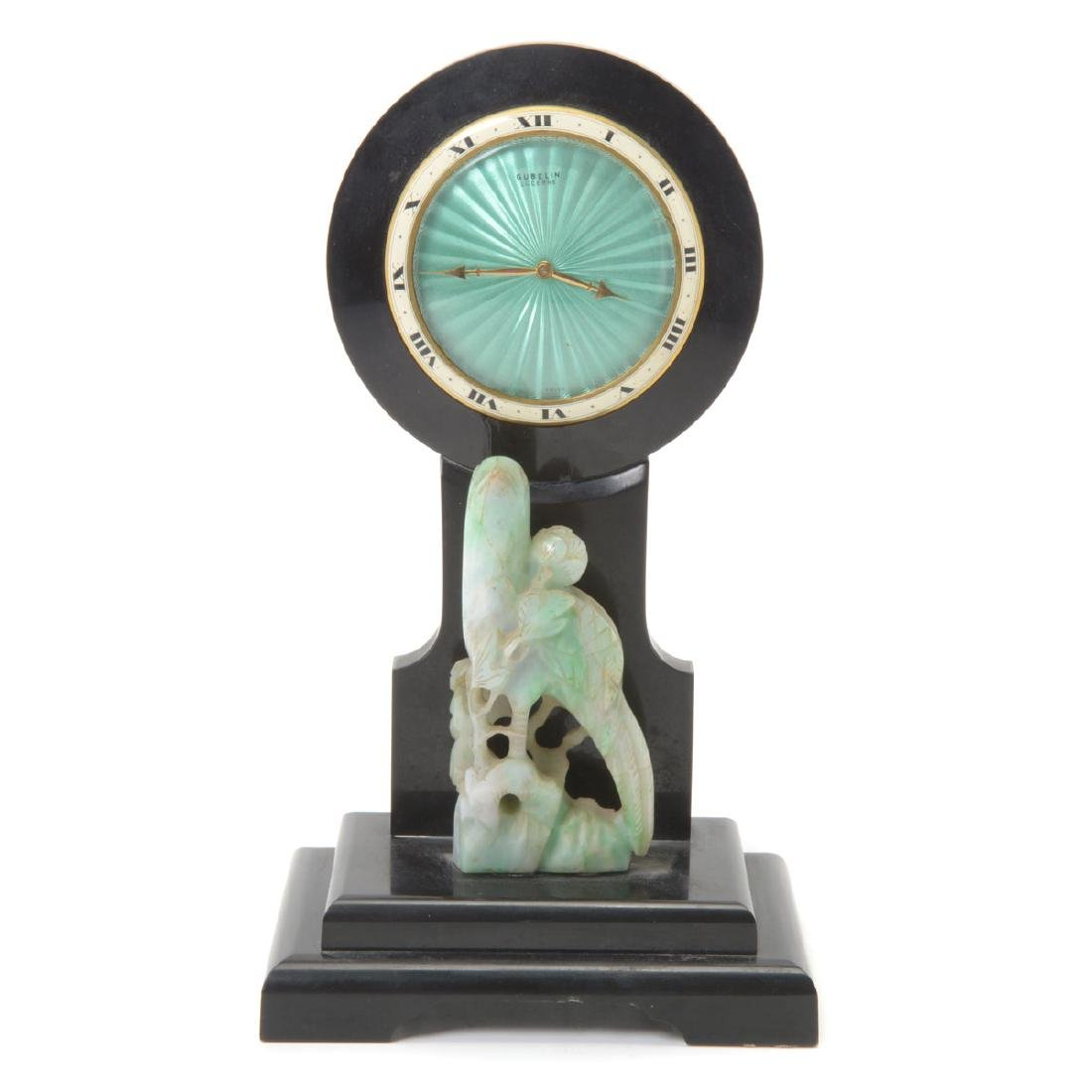 Art Deco Gubelin Mantle Clock in the Chinese Style