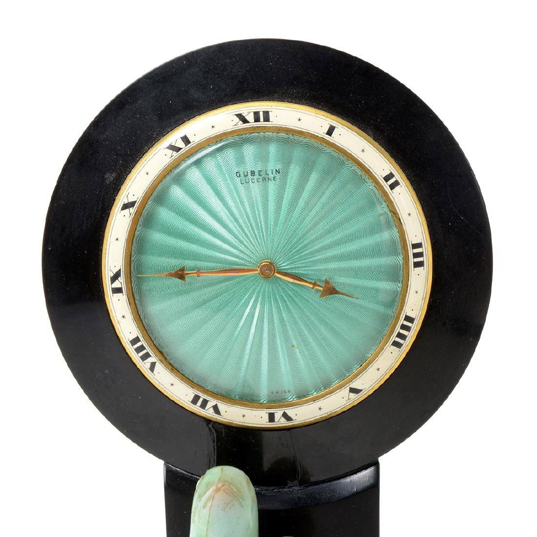 Art Deco Gubelin Mantle Clock in the Chinese Style - 2