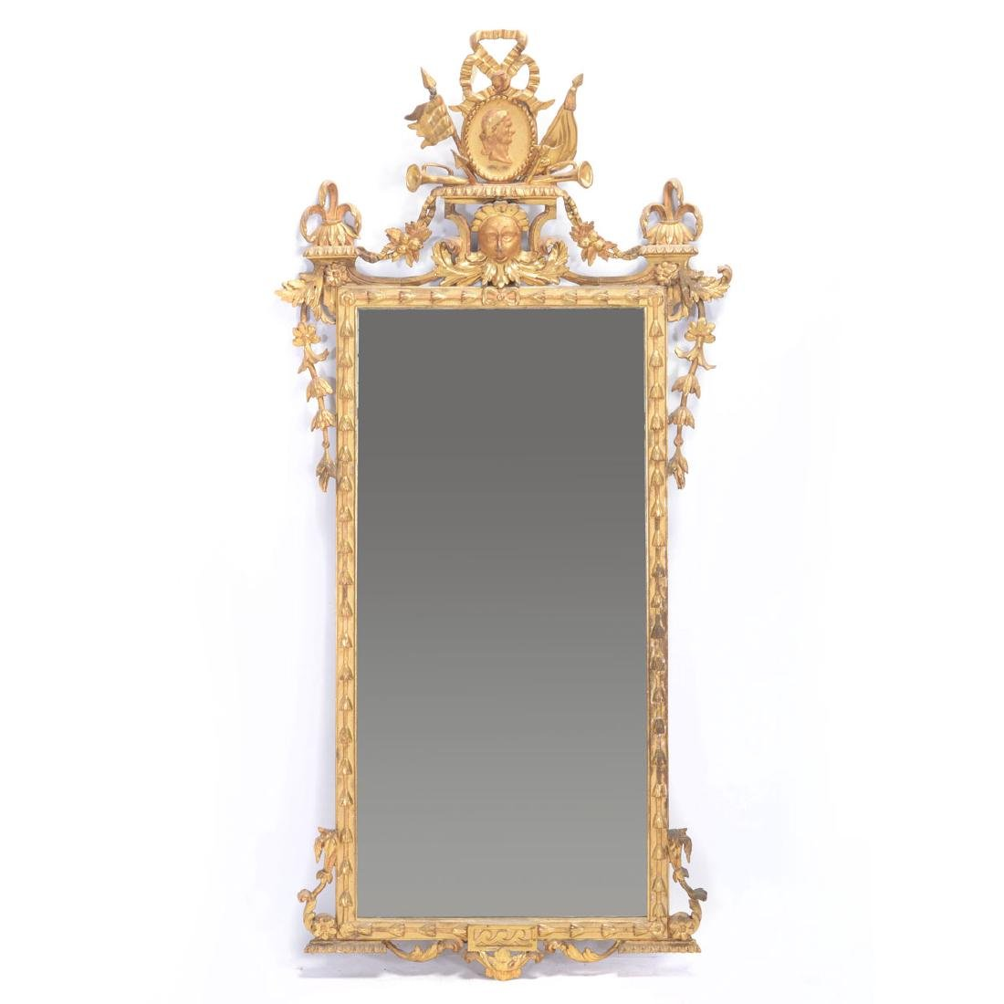 Continental Giltwood Neoclassical Mirror, Late 18th