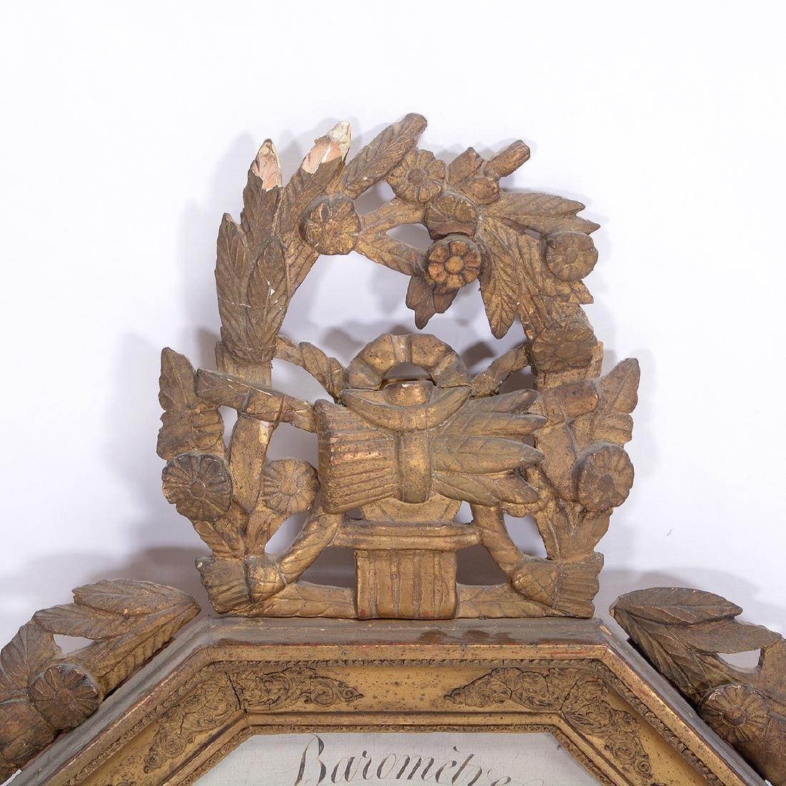 Louis XVI Giltwood Octagonal Barometer - 2