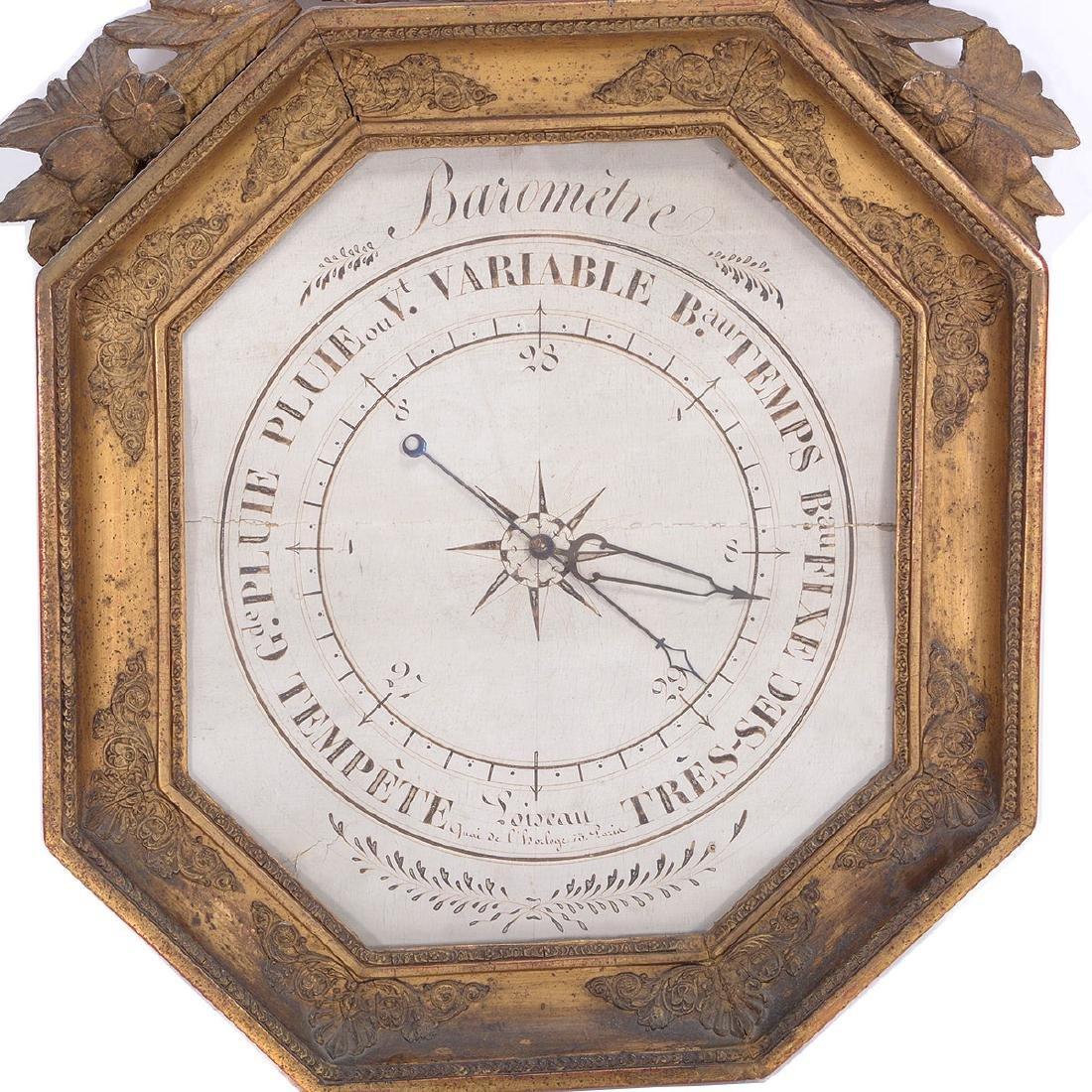 Louis XVI Giltwood Octagonal Barometer - 3