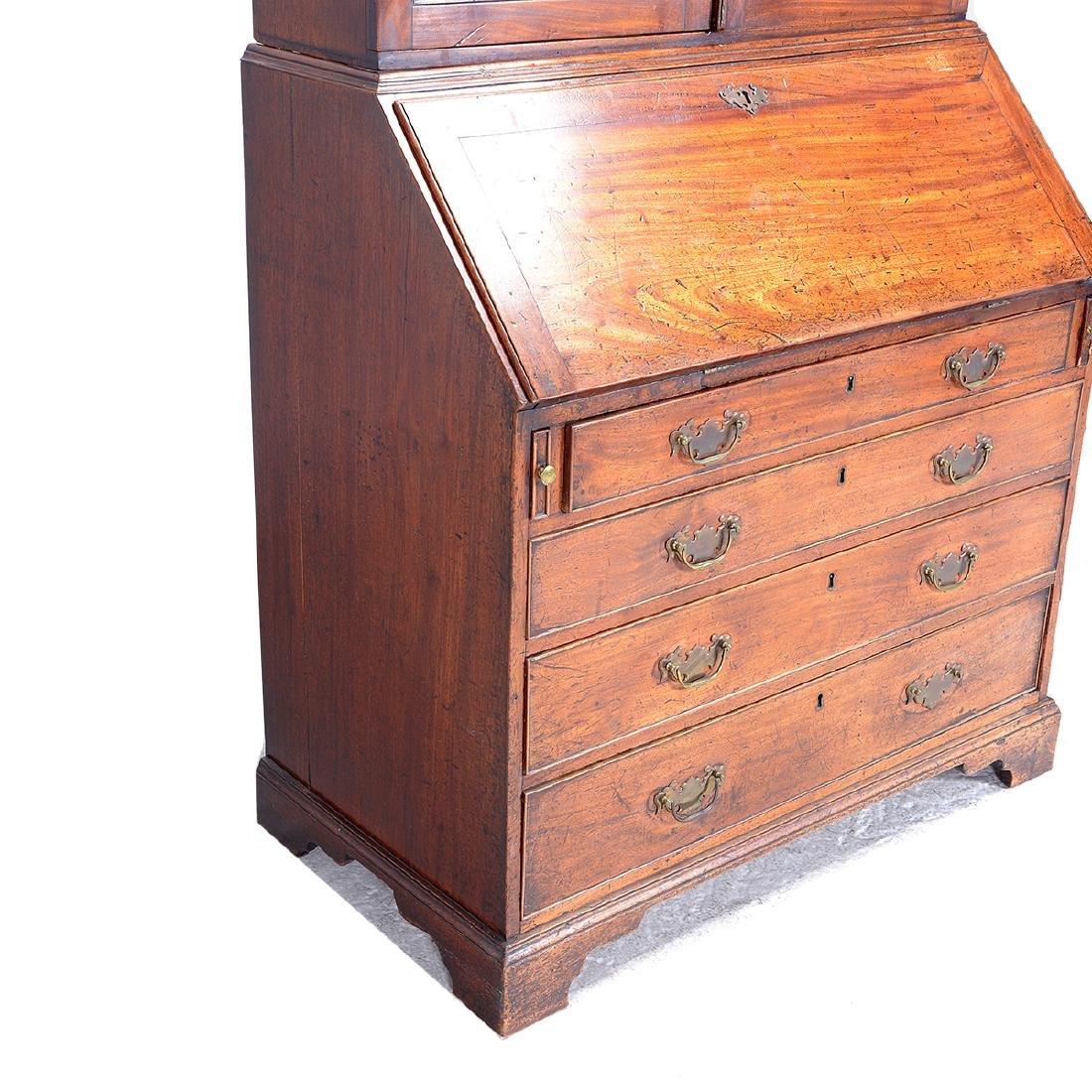 George III Style Mahogany Secretary Cabinet - 3