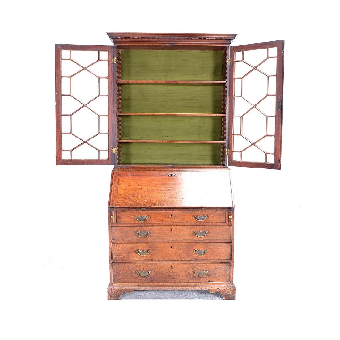 George III Style Mahogany Secretary Cabinet - 5