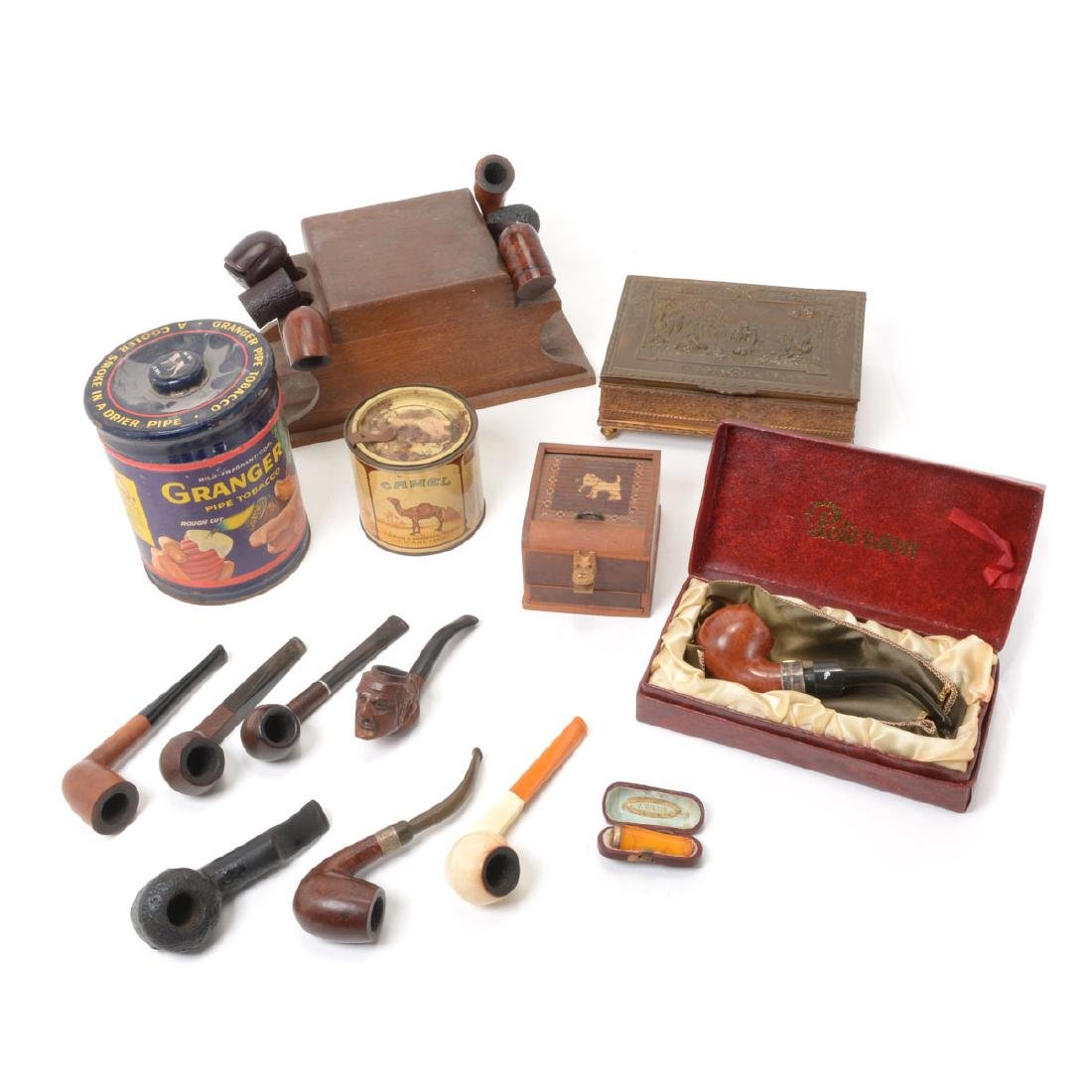 Tobacco Boxes,Pipes,Sterling Mounted Peterson,