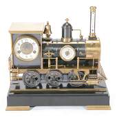 French Automaton Locomotive Industrial Clock