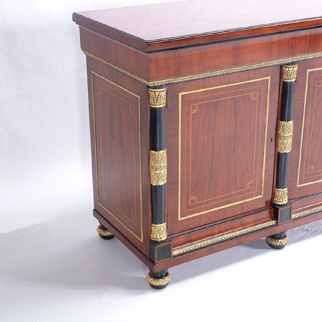 Louis XVI Style Spanish Made Mahogany Sideboard with - 2