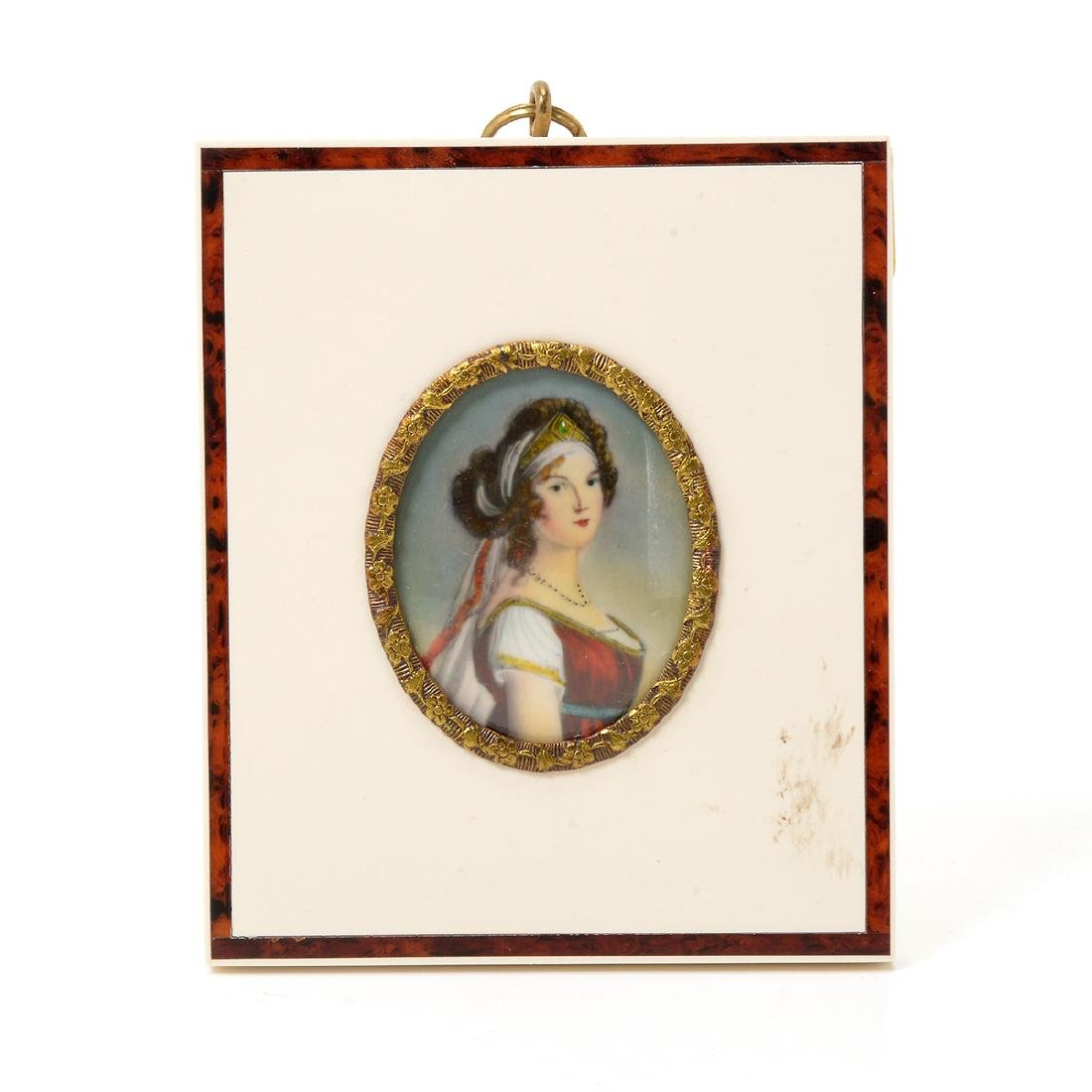 Eight Miniature Paintings and Portraits of European - 5
