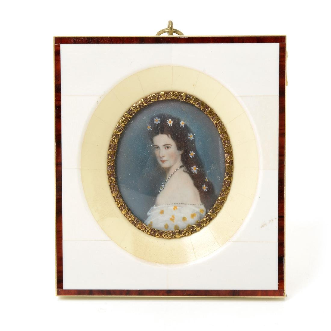 Eight Miniature Paintings and Portraits of European - 6