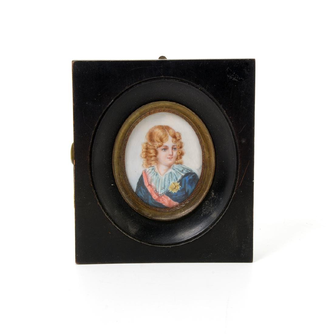 Nine Miniature Portraits of Men Including Blue Boy - 10