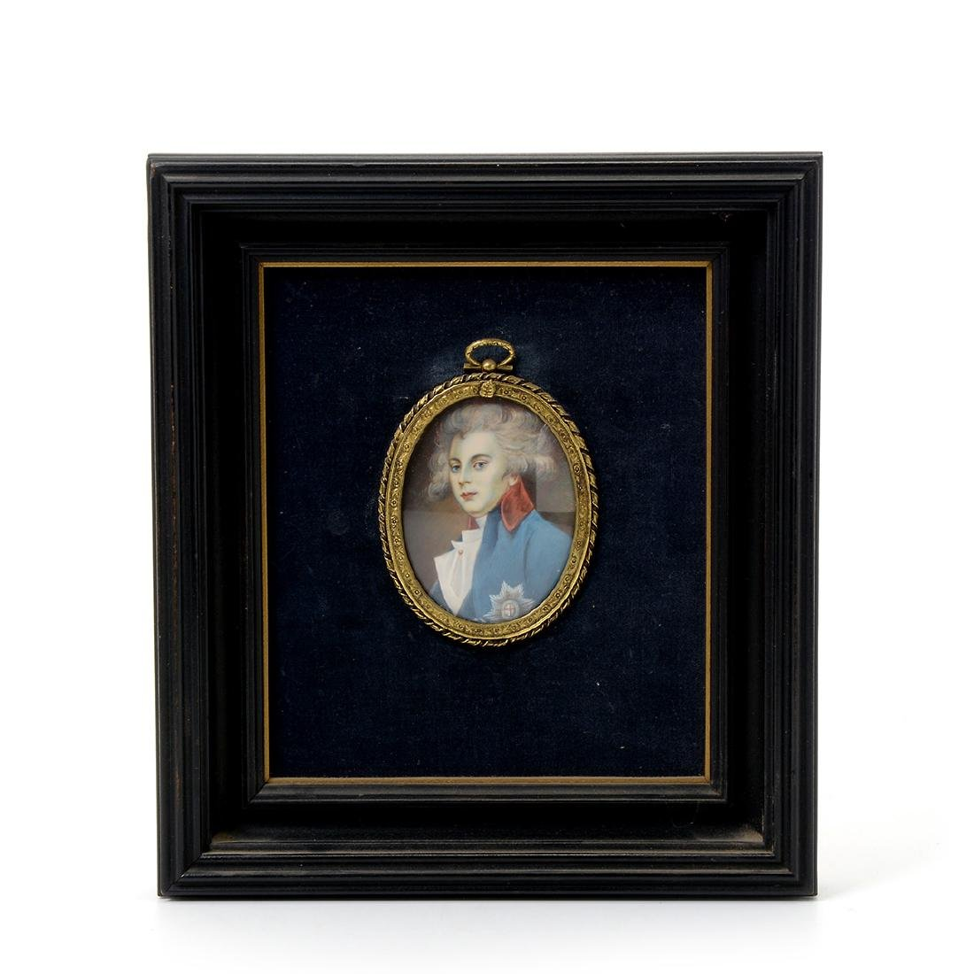 Nine Miniature Portraits of Men Including Blue Boy - 2
