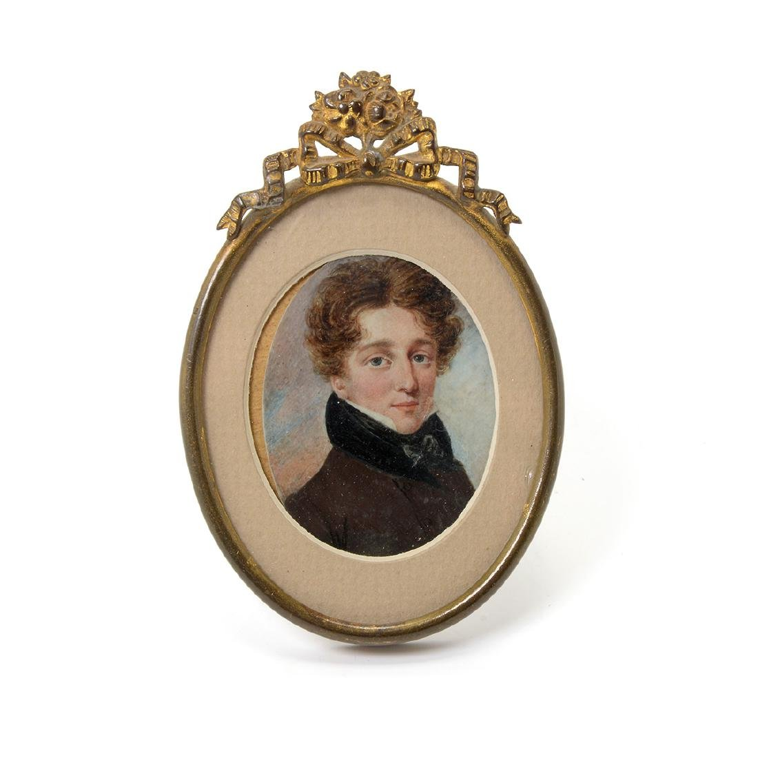 Nine Miniature Portraits of Men Including Blue Boy - 4