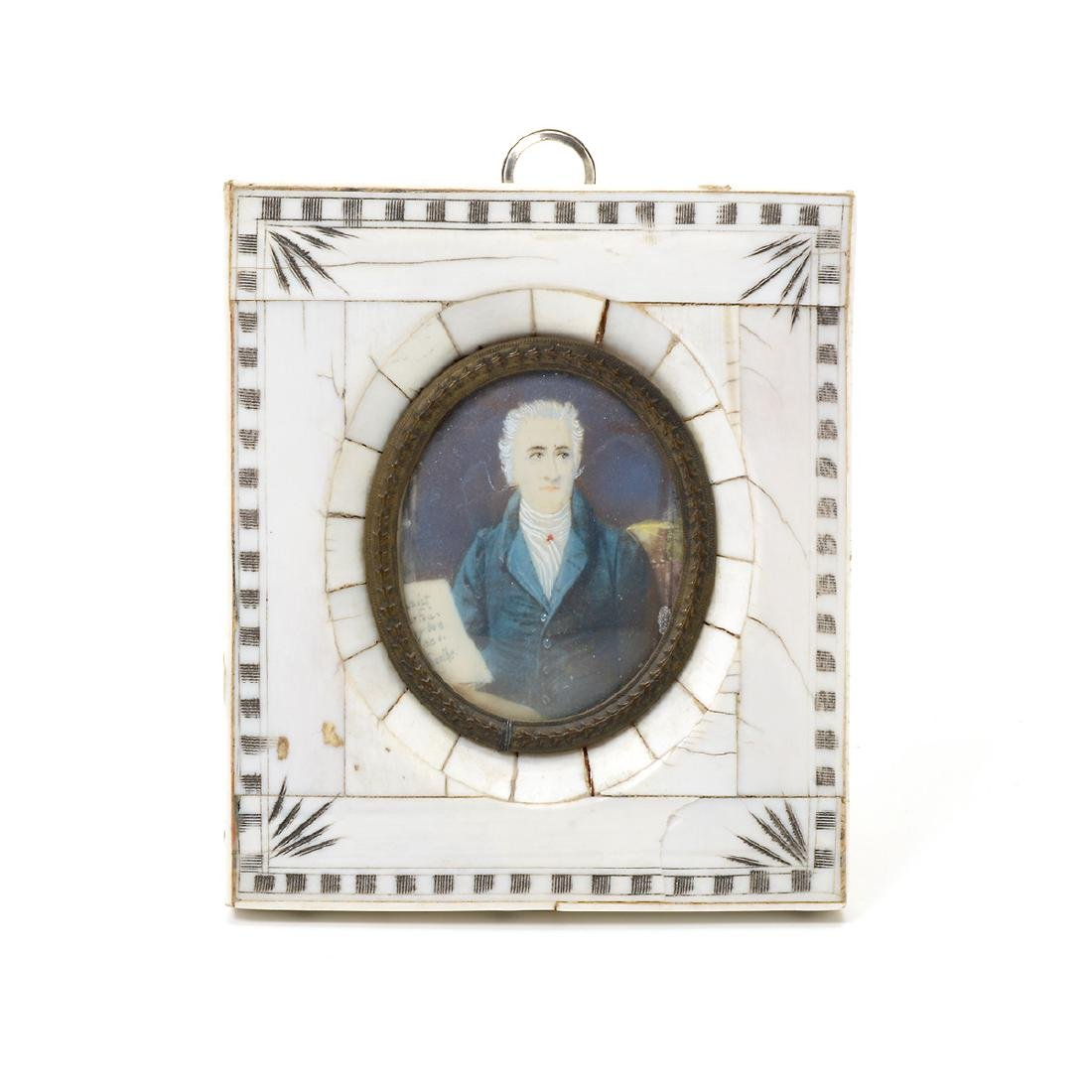 Nine Miniature Portraits of Men Including Blue Boy - 5