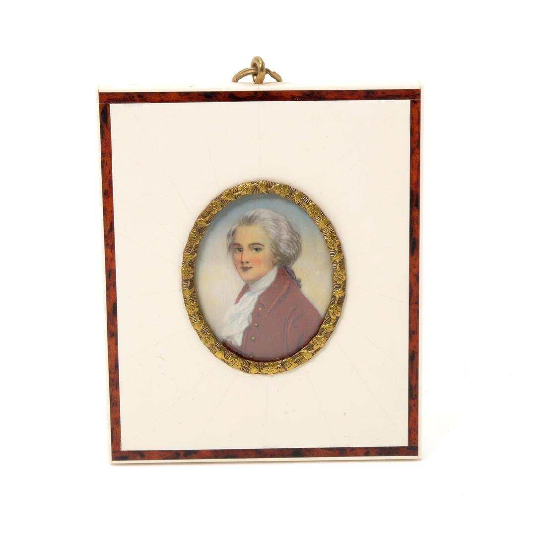 Nine Miniature Portraits of Men Including Blue Boy - 7
