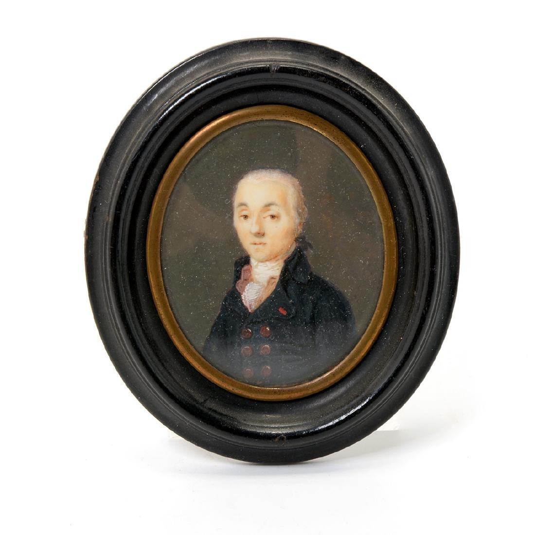 Nine Miniature Portraits of Men Including Blue Boy - 9