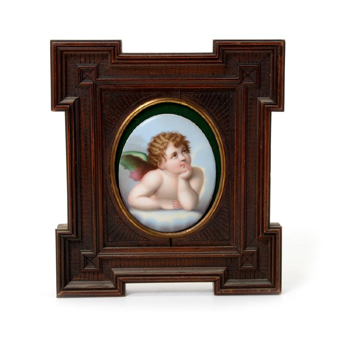 Seven Miniature Paintings on Porcelain - 2
