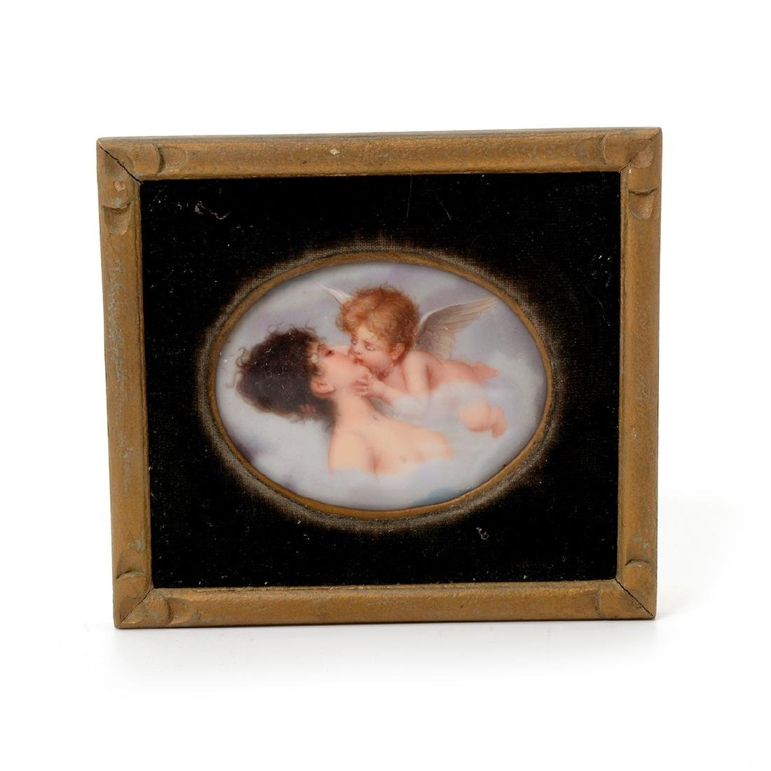 Seven Miniature Paintings on Porcelain - 4