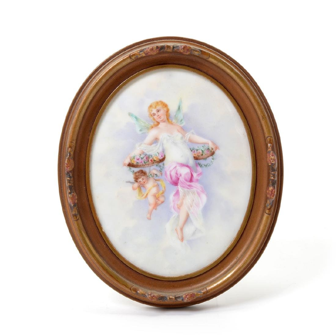 Seven Miniature Paintings on Porcelain - 5