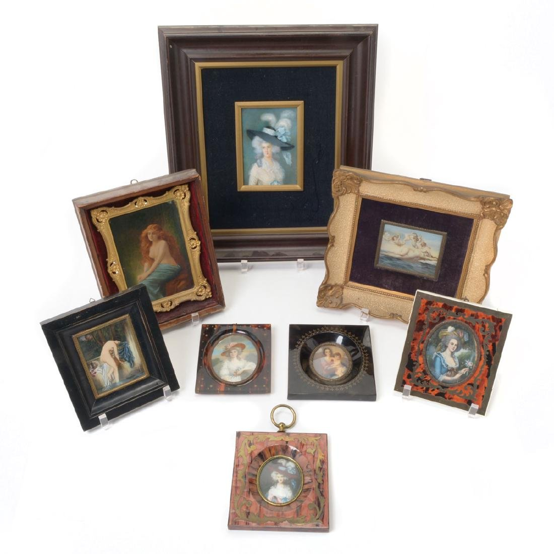 Eight Miniature Paintings Including Famous Artworks