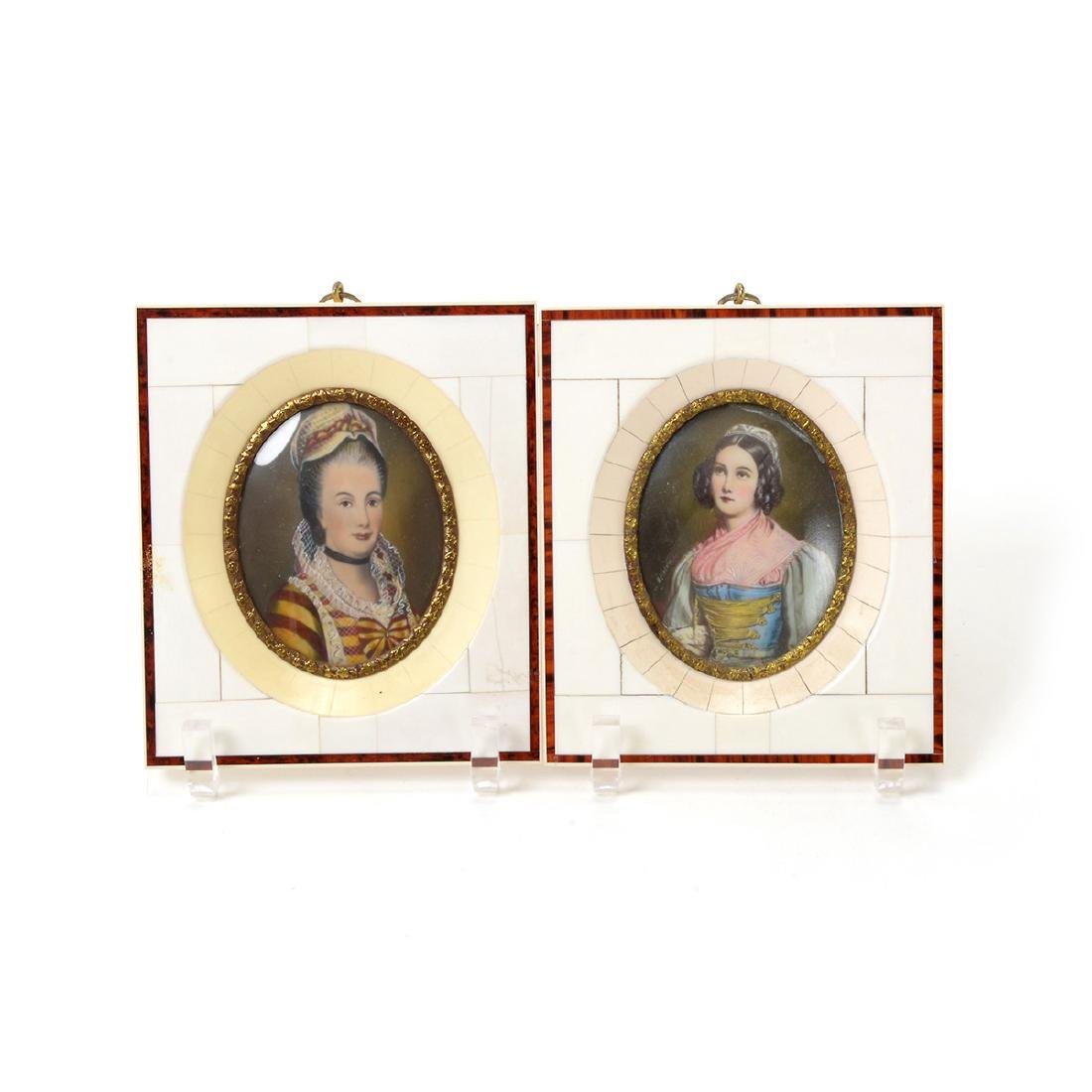 Twelve Miniature Portraits in Piano Key Frames - 4