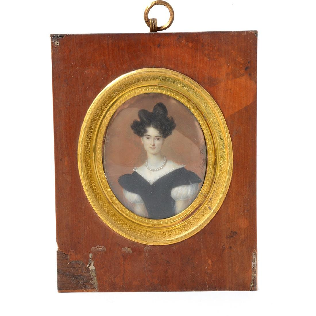Six Miniature Portraits of Pre-Civil War Era Women - 3