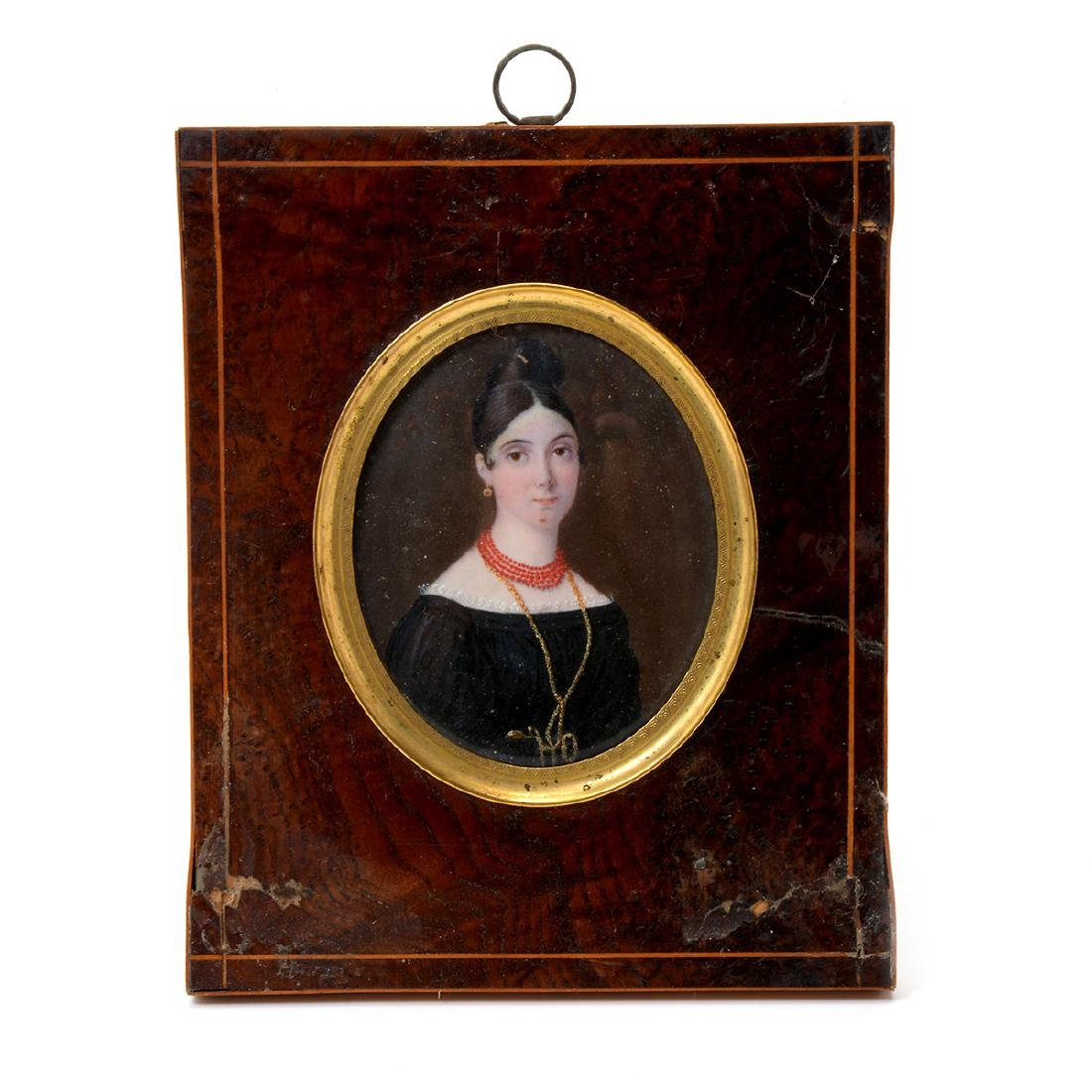 Six Miniature Portraits of Pre-Civil War Era Women - 4