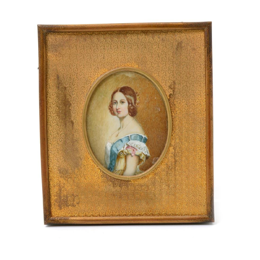 Six Miniature Portraits of Pre-Civil War Era Women - 5