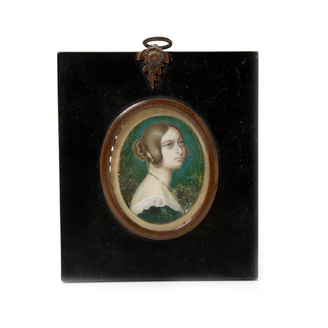 Six Miniature Portraits of Pre-Civil War Era Women - 6