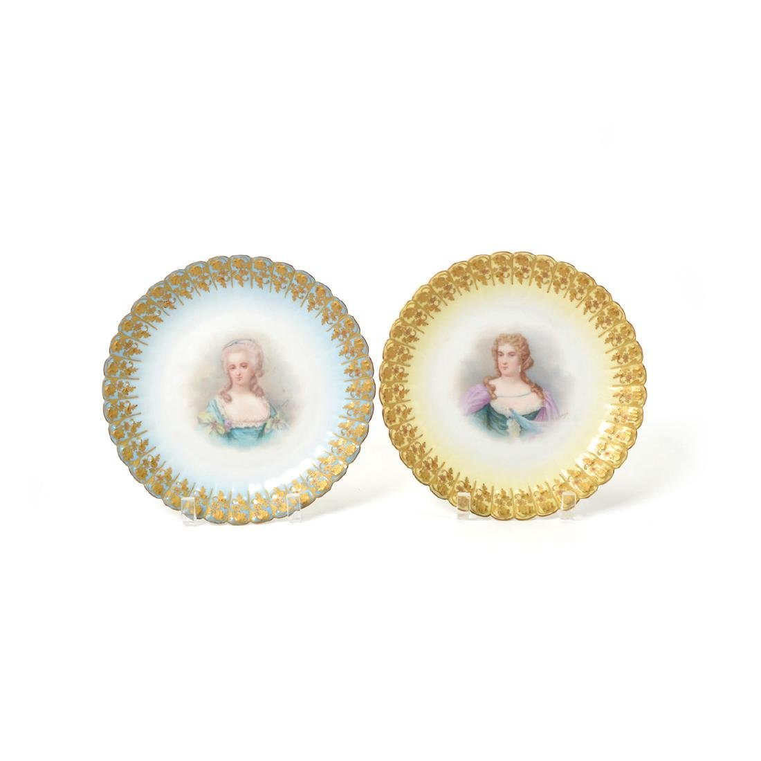 Set of Twelve Sevres Style Porcelain Cabinet Plates, - 3