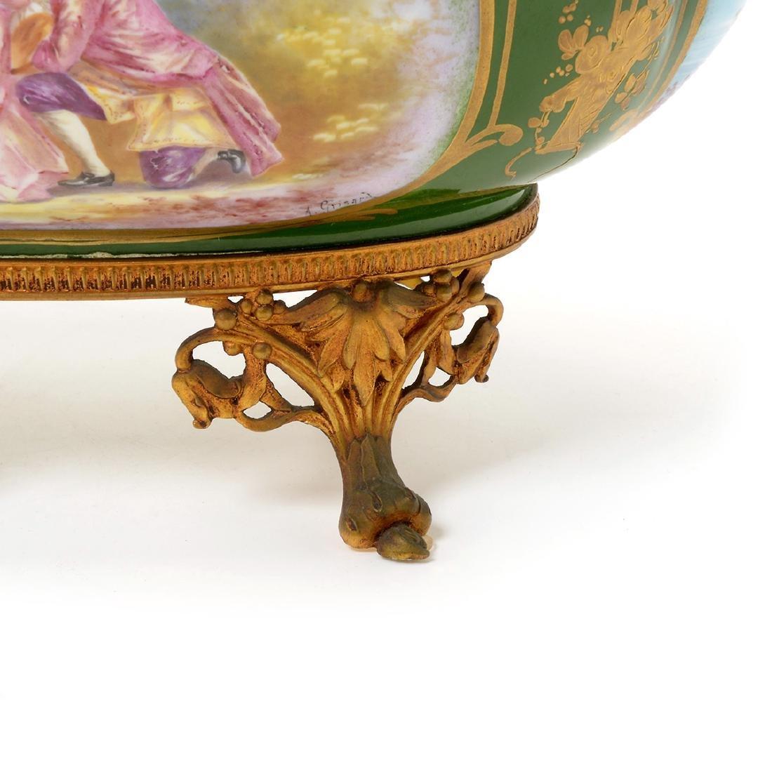 Two SÈvres Style Gilt Bronze Porcelain Vessels: - 4