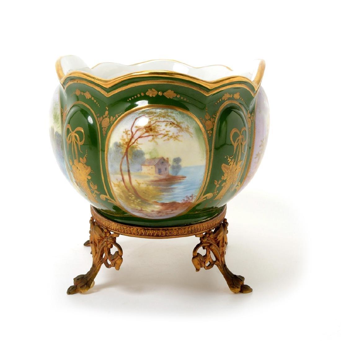 Two SÈvres Style Gilt Bronze Porcelain Vessels: - 5