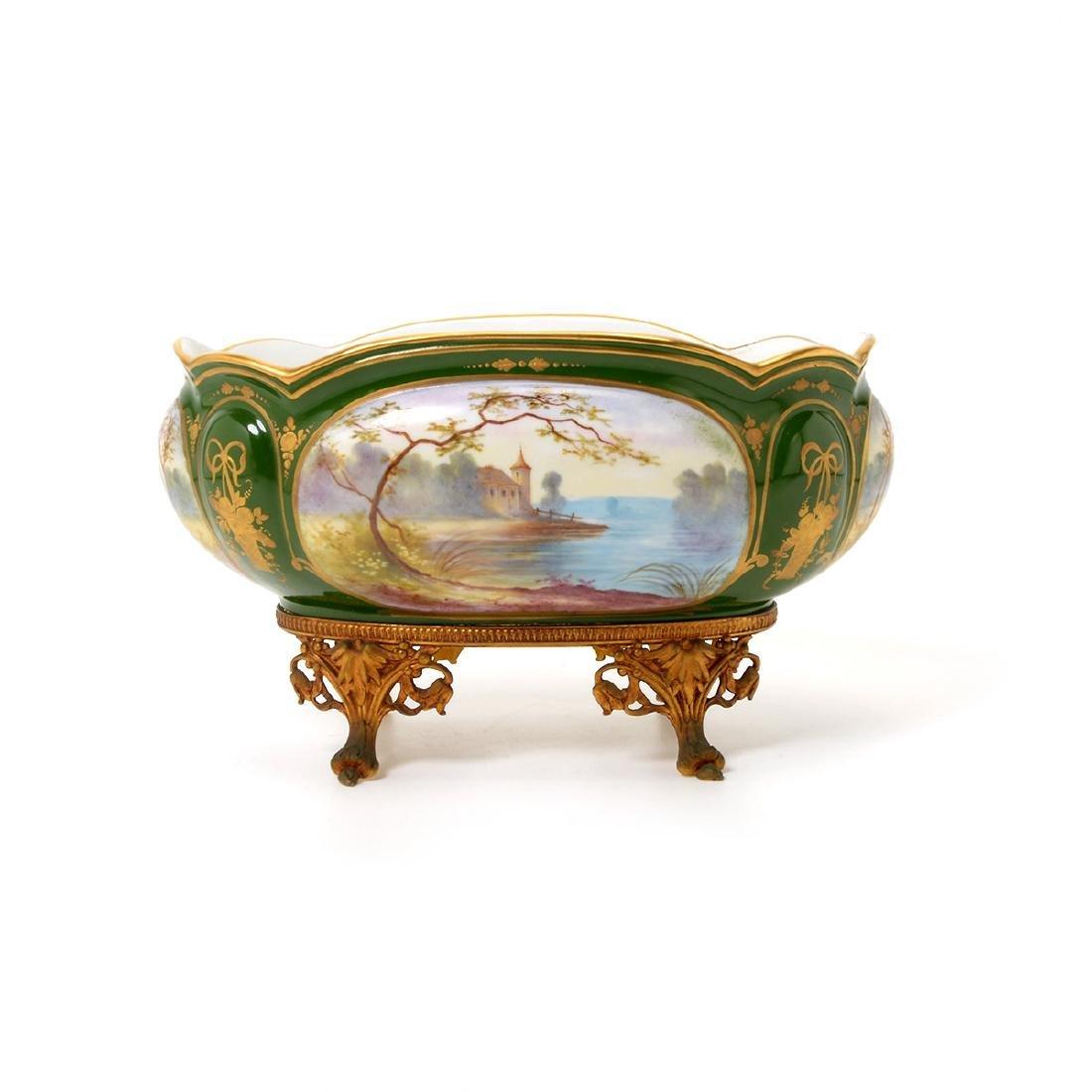 Two SÈvres Style Gilt Bronze Porcelain Vessels: - 6