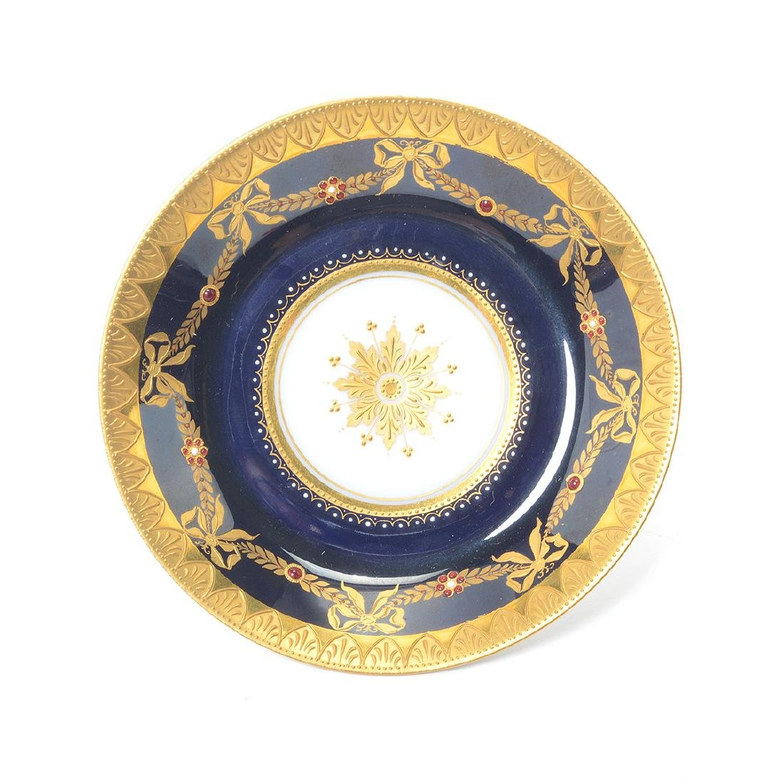 Royal Vienna Style Porcelain Plate with Cup and Saucer - 6