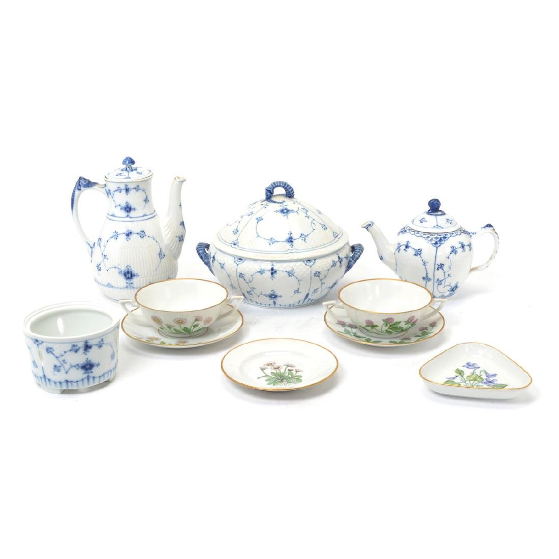 Royal Copenhagen Porcelain Serving and Table Articles