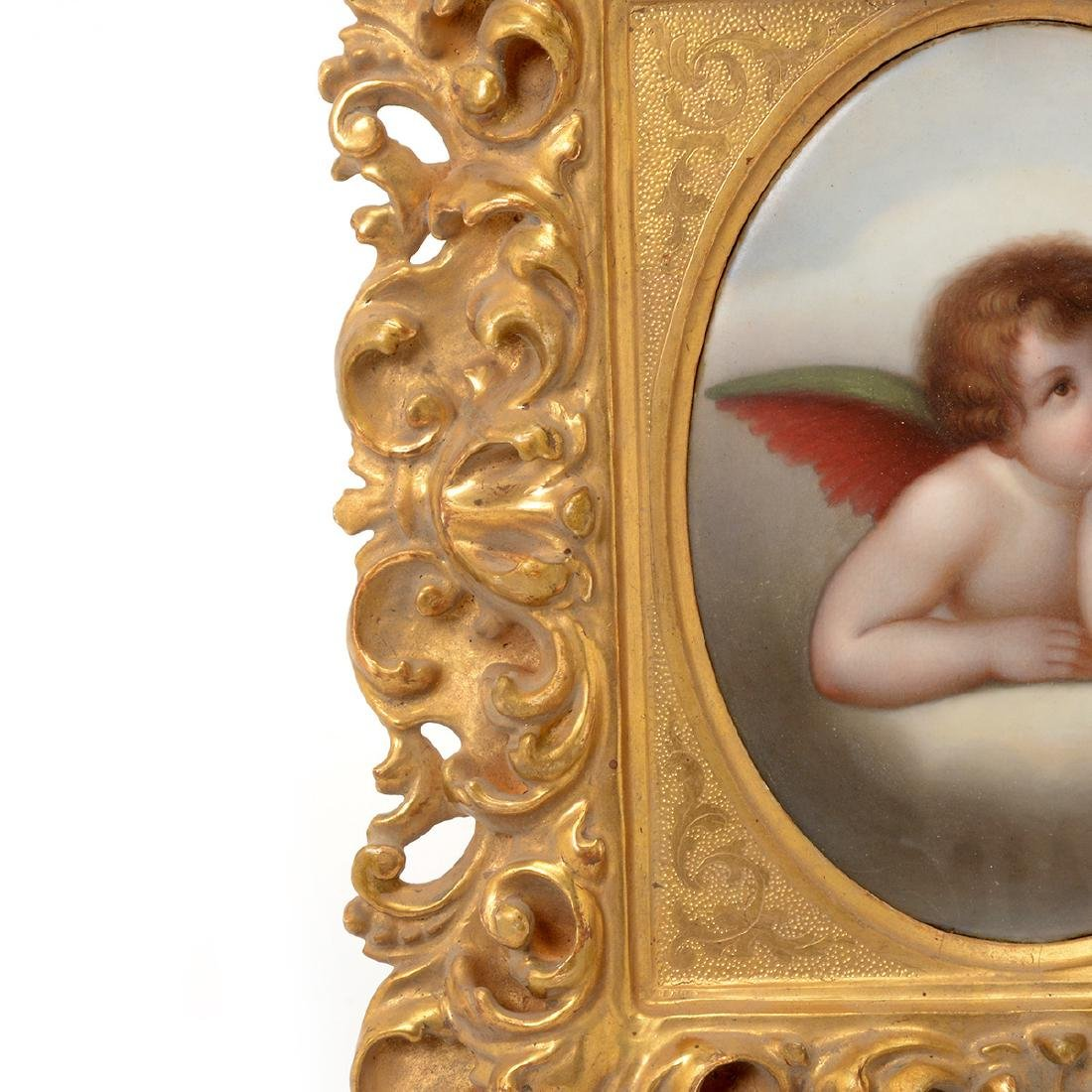 Two Italian Porcelain Plaques of Angels - 6