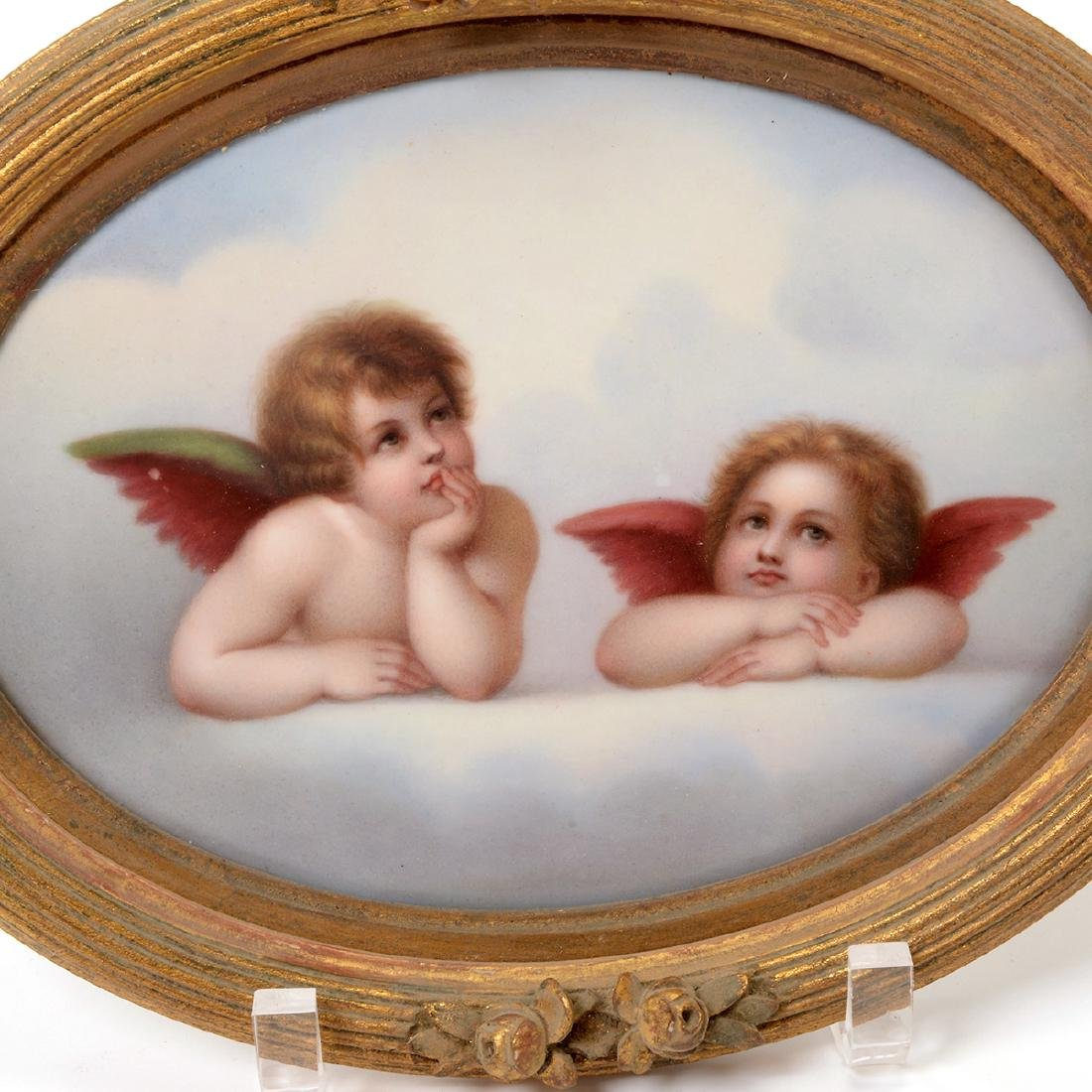 Two Italian Porcelain Plaques of Angels - 8