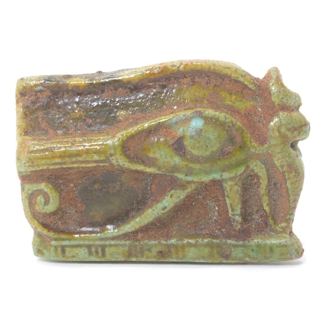 Egyptian Wedjat Faience Talisman
