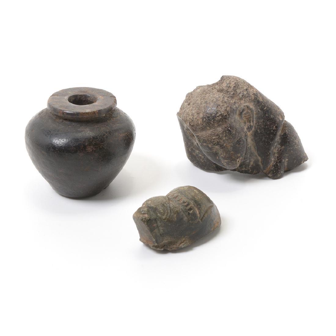 Three Egyptian Stone Artifacts