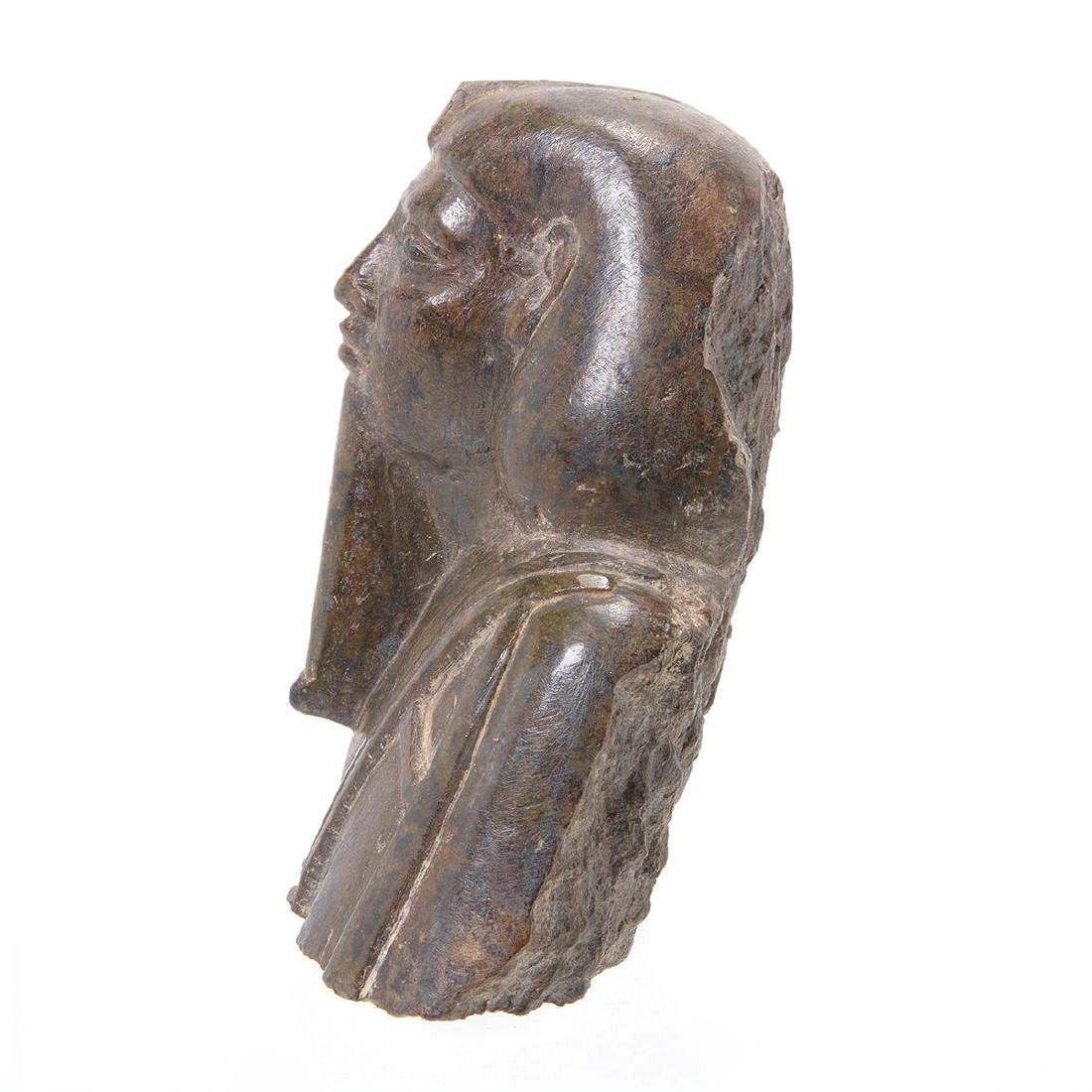 Egyptian Stone Carved Bust of Pharaoh - 2