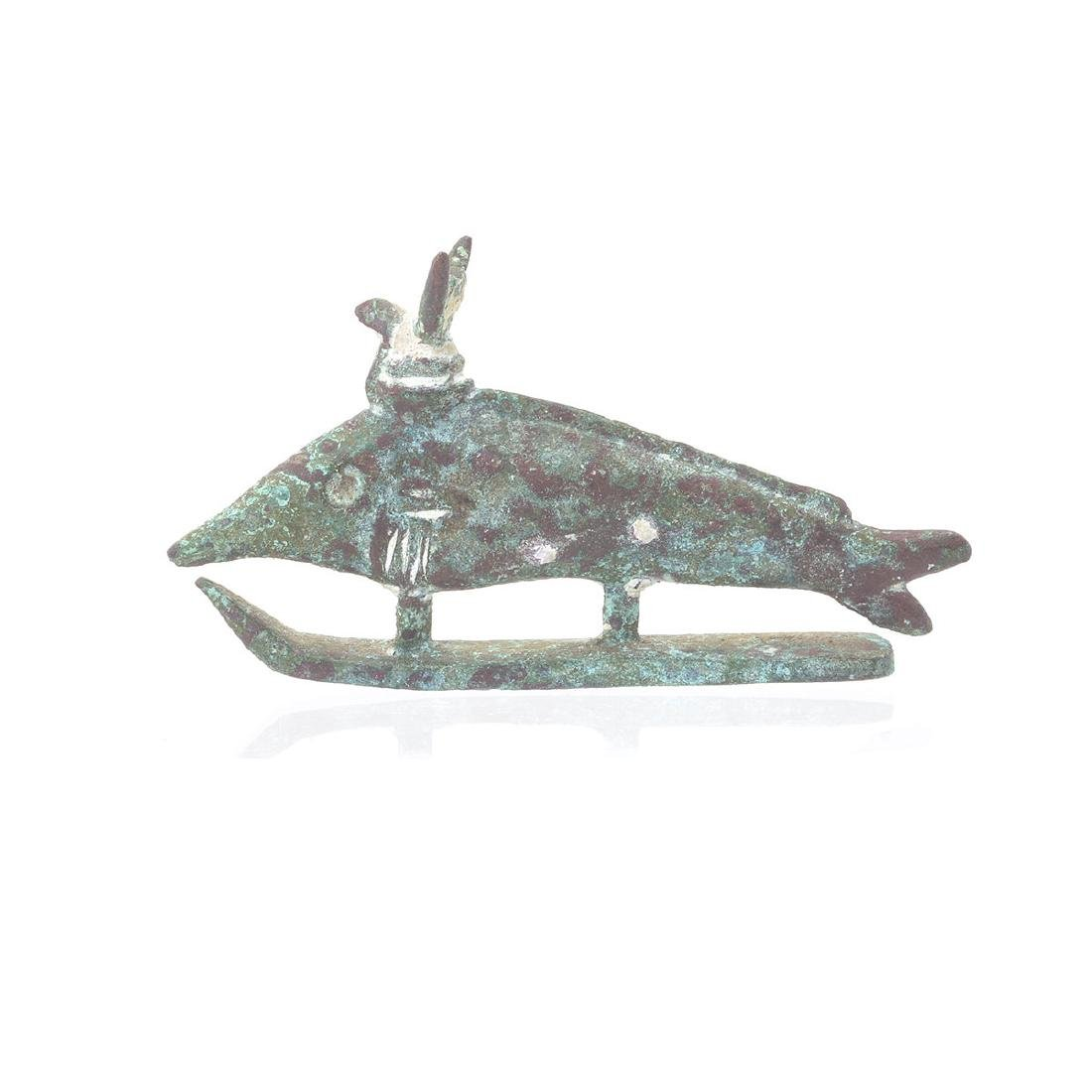 Egyptian Bronze Oxyrhynchus Fish Altarpiece - 2