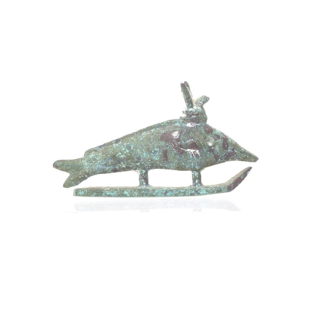 Egyptian Bronze Oxyrhynchus Fish Altarpiece - 4